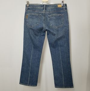 Paige Jeans Laurel Canyon Cropped 28 Light Stone